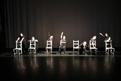 Freefall Dance Company in Chairs Too!Photo courtesy Birmingham Royal Ballet