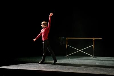 Denis Savin as Rudolf Nureyev in Letter to RudyPhoto Evgenia Basyrova