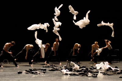 Gauthier Dance in the 'Echad Mi Yodea' section from Ohad Naharin's Minus 16Photo Regina Brocke