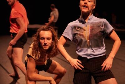 Flirt faces in Joshua Monten's Romeo, Romeo, RomeoPhoto Jonas Kambli