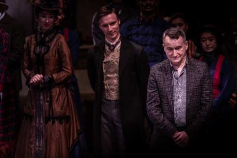 David Bintley (right) at the curtain call of his final performance in Birmingham as director of Birmingham Royal BalletPhoto Clive Booth
