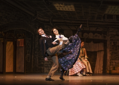 David Bintley's Hobson's Choice(here with Samara Downs as Maggie Hobson and Lachlan Monaghan as Will Mossop)Photo Bill Cooper