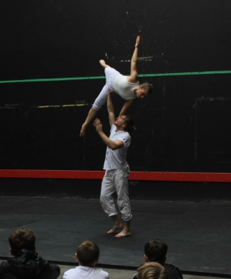 Chris Knight and Berta Contijoch in Gravity at Rugby SchoolPhoto Amy Dalton-Harvey
