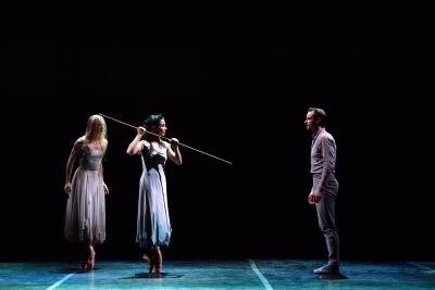 Stina Quagebeur, Tamara Rojo and James Streeter in Akram Khan's GisellePhoto Laurent Liotardo