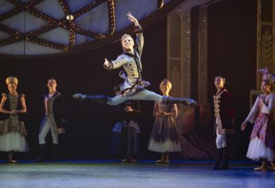 Sean Bates as Prince Mikhail in CinderellaPhoto Emma Kauldhar