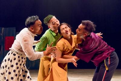 Ljaucu Tapurakac, Chiang Sheng-hsiang, Meng Tzu-en and Yang Ching-hao in Ai~sa saPhoto Chen Chang-chih