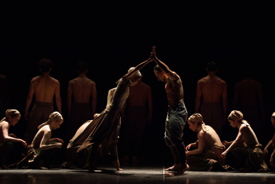 Erina Takahashi, Fabian Reimair and English National Ballet in Akram Khan's DustPhoto Laurent Liotardo