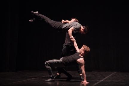 Matthew Astley, Jeffrey Cirio and James Streeter rehearse SwansongPhoto Laurent Liotardo