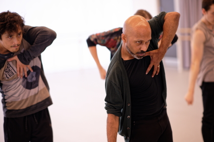 Jeffrey Cirio and Akram Khan in rehearsal for CreaturePhoto Laurent Liotardo