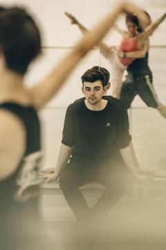 Andrew McNicol in rehearsal for Enuoia at Ballet Vlaanderen's Choreolab in Antwerp in 2014Photo Filip Van Roe 1