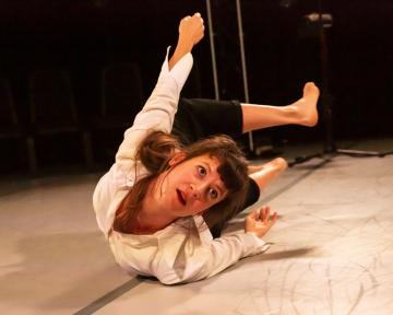 Solène Weinachter in Antigone, InterruptedPhoto Maria Falconer