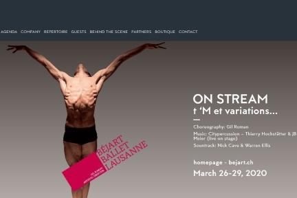 Béjart Ballet Lausanne dances on-line