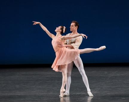 Tiler Peck and Andrew Veyette in George Balanchine's Allegro BrillantePhoto Paul Kolnik