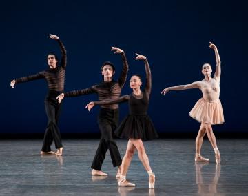 Sebastian Villarini-Velez, Ethan Fuller, Rachel Hutsell, and Jacqueline Bologna in Gianna Reisen's Composer's HolidayPhoto Paul Kolnik