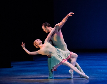 Sara Mearns and Tyler Angle in Alexei Ratmansky's Concerto DSCHPhoto Paul Kolnik