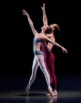 Maria Kowroski and Jared Angle in Christopher Wheeldon's LiturgyPhoto Paul Kolnik