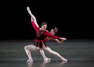 Megan Fairchild and Gonzalo Garcia in George Balanchine's RubiesPhoto Erin Baiano
