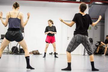 Sharon Eyal and L-E-V Dance Company rehearse in Tel AvivPhoto Andy Dunn