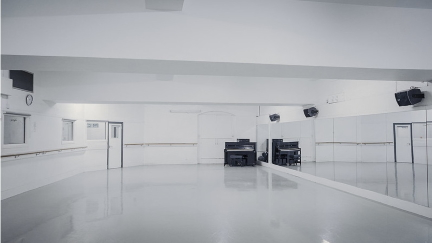 An empty Studio 11 at Pineapple, but that will be welcoming dancers again soon. Photo Pineapple Studios