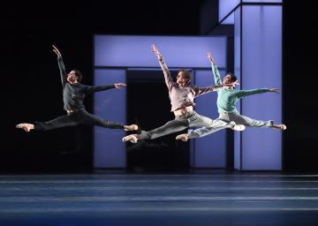 Timor Afshar, Daniele Silingardi and Marino Semenzato in Taiyō to Tsuki by Martin SchläpferPhoto Stuttgart Ballet