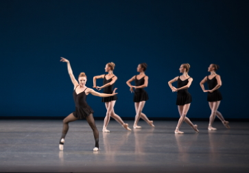 Sara Mearns and New York City Ballet in George Balanchine's Stravinsky Violin ConcertoPhoto Rosalie O'Connor
