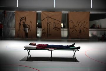 Rambert rehearse Draw From Within by Wim VandekeybusPhoto courtesy Rambert