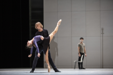 Anna Laudere and Edvin Revazov with Karen Azatyan behindin Ghost Light by John NeumeierPhoto Kiran West