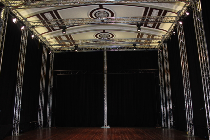 Motionhouse's new space, now finished, in the Assembly Hall at Leamington Town HallPhoto courtesy Motionhouse