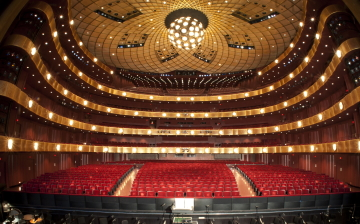 The auditorium of the David H. Koch Theater, which will not be welcoming patrons to watch New York City Ballet until September 2021Photo Jon Simon