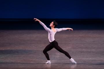 Anthony Huxley in George Balanchine's Duo ConcertantPhoto Paul Kolnik