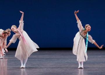 Claire Von Enck and Olivia Boisson in Balanchine's Scherzo à la RussePhoto Paul Kolnik