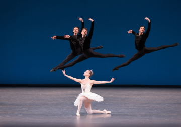 Erica Pereira with Spartak Hoxha, Troy Schumacher and Ralph Ippolito in Symphony in CPhoto Rosalie O'Connor