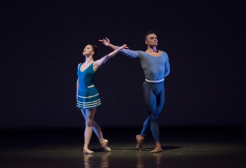 Indiana Woodward and Taylor Stanley in Justin Peck's Year of the RabbitPhoto Paul Kolnik