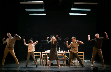 (l-r) Robert Clark, Tia, Aurora Lubos, Kye and Janusz Orlik in In Loco Parentis by Charlotte VincentPhoto Bosie Vincent