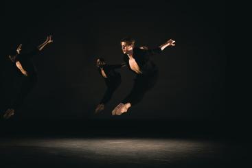 George Liang, Wesley Branch and Bruno Serraclara in Men Dances by Mlindi KulashePhoto Riku Ito