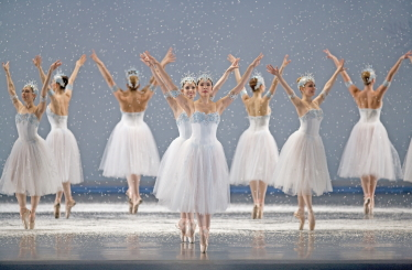 Snowflakes in Helgi Tomasson's NutcrackerPhoto Erik Tomasson