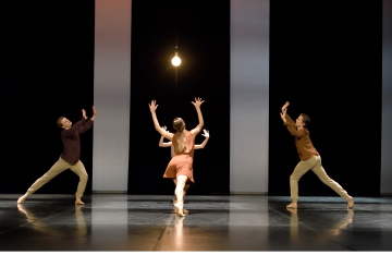 Clemens Frohlich, Daiana Ruiz and Christian Pforr in Resonanz by Agnes SuPhoto Stuttgart Ballet