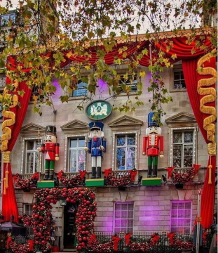The Nutcracker-themed decorations at Annabel's in London's Berkeley SquarePhoto David Mead