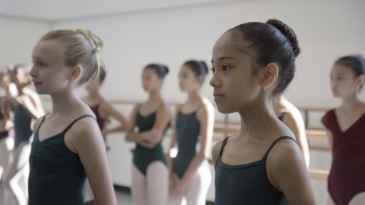 Sophia and Ella, young students at the School of American Ballet in On PointePhoto courtesy Disney