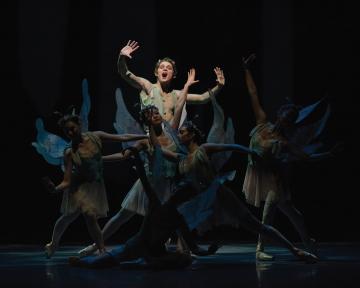 Cavan Conley as Puck in George Balanchine's A Midsummer Night's DreamPhoto Erik Tomasson