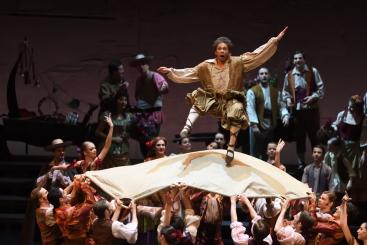 Louis Stiens as Sancho Panza in Don QuixotePhoto Stuttgart Ballet