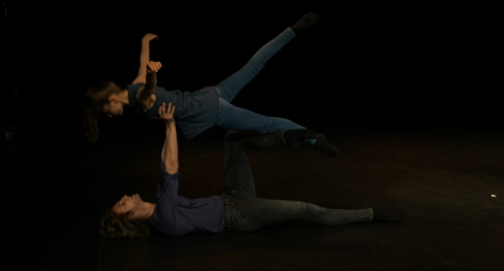 Justine Cramer and Pepijn Geldermann in Muted by Sasha RivaScreenshot from live stream