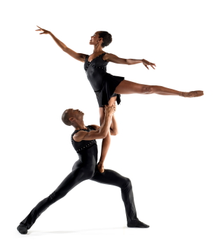Lindsey Donnell, here with former DTH Artist Fredrick Davis, in New BachPhoto Rachel Neville