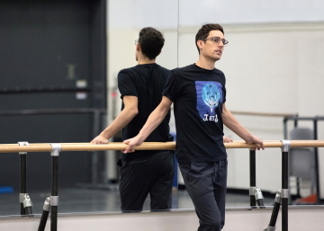 Justin Peck rehearsing with New York City Ballet in 2019Photo Erin Baiano