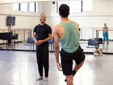 Kyle Abraham rehearsing with New York City Ballet in 2018Photo credit: Erin Baiano