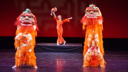 Double Lion Dance from Nai-Ni Chen Dance Company's New Year of the Golden Ox celebrationPhoto Andy Chiang