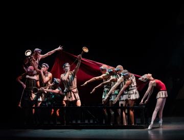 Teresa Reichlen and Company in George Balanchine's Prodigal SonPhoto Paul Kolnik