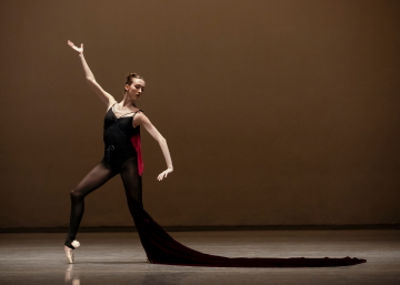 Christina Clark learning the role of the Siren in the 'Inside NYCB' episode focused on George Balanchine's Prodigal SonPhoto Erin Baiano