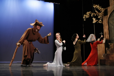 New York Theatre Ballet in Agnes de Mille's Three Virgins and a Devil.Photo Richard Termine