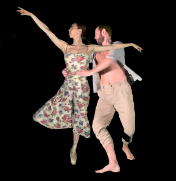 Katie Currier and Craig Dionne in a still from Reverie, choreographed by Igal PerryPhoto courtesy Peridance Contemporary Dance Company